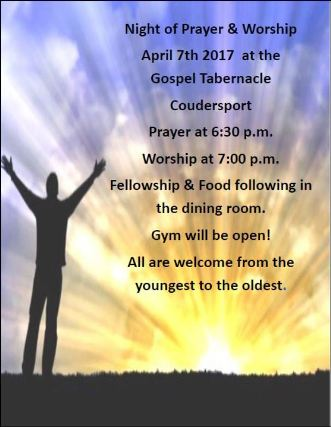 4-7 Night of Prayer & Worship
