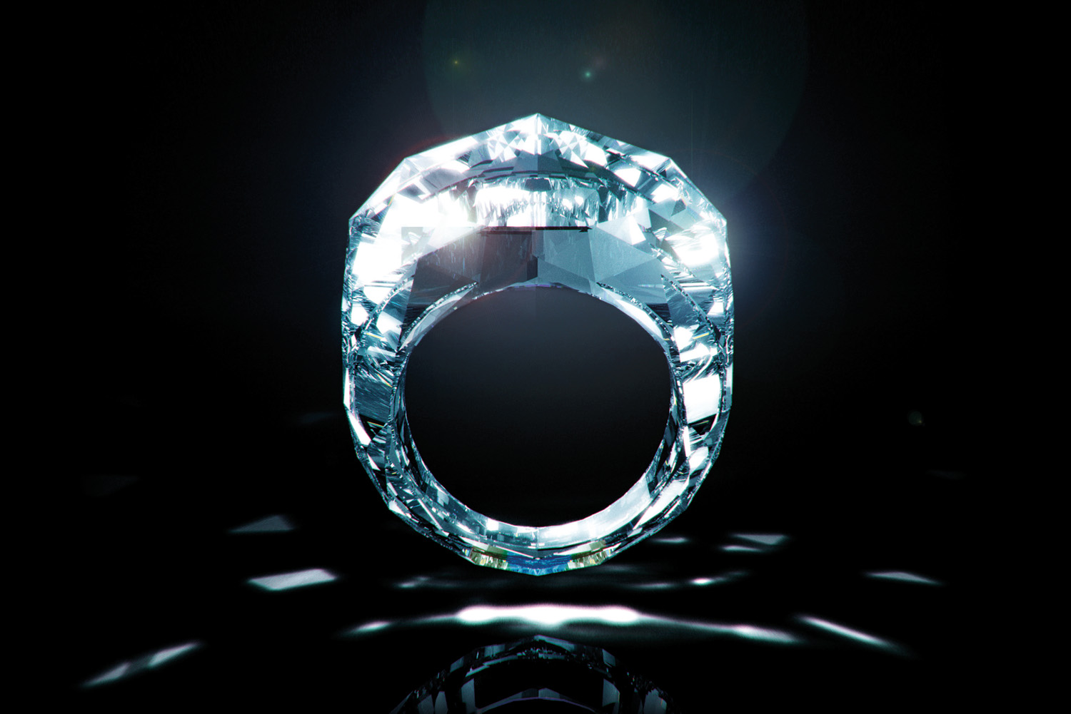 $70 Million Dollar ALL Diamond Ring Worlds First
