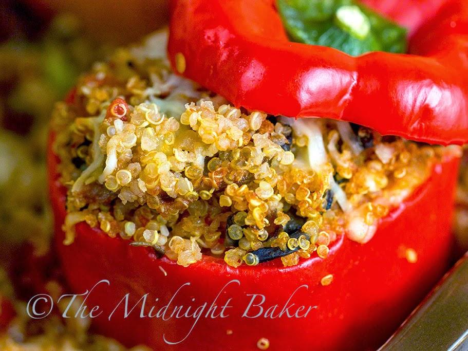 Quinoa Stuffed Peppers #StuffedPeppers #quinoa #meatless #vegan # ...