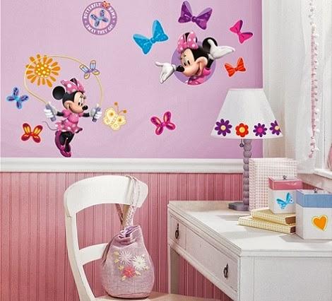 Dormitorio tem tico minnie mouse decoraci n del hogar for Disenos para decorar paredes de dormitorios