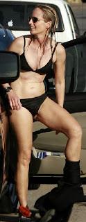 Helen Hunt black bikini California