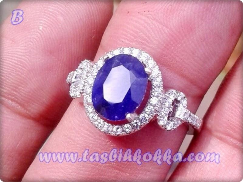 Cincin Blue Saphire Afrika