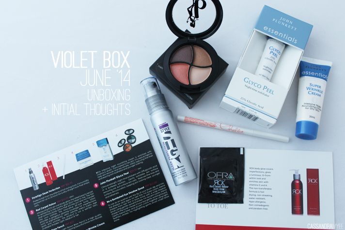 VIOLET BOX NZ // June '14 - Unboxing + Initial Thoughts - cassandramyee