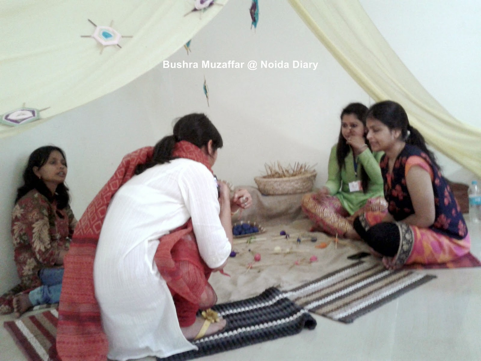 The Weaving Corner at Vasant Uday Festival in Noida