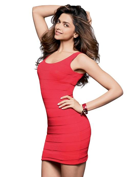 deepika-padukone-cute-red-dress