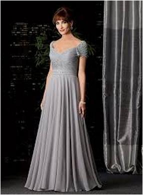 vestido da mãe da noiva cinza