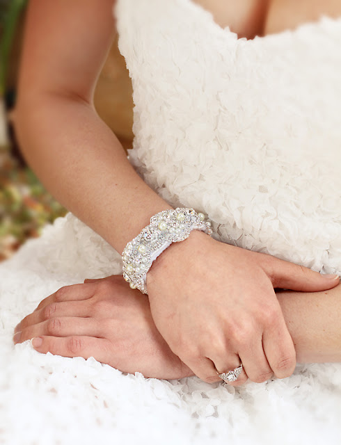 Handcrafted Lace Wedding Bracelet