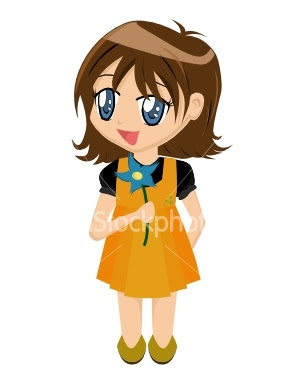 Girl In Cartoon