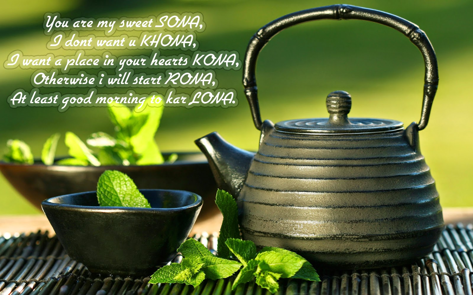 good morning sms quote with tea hd wishes background photos