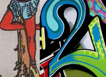 Hanged Man Graffiti Mashup, the Number 42