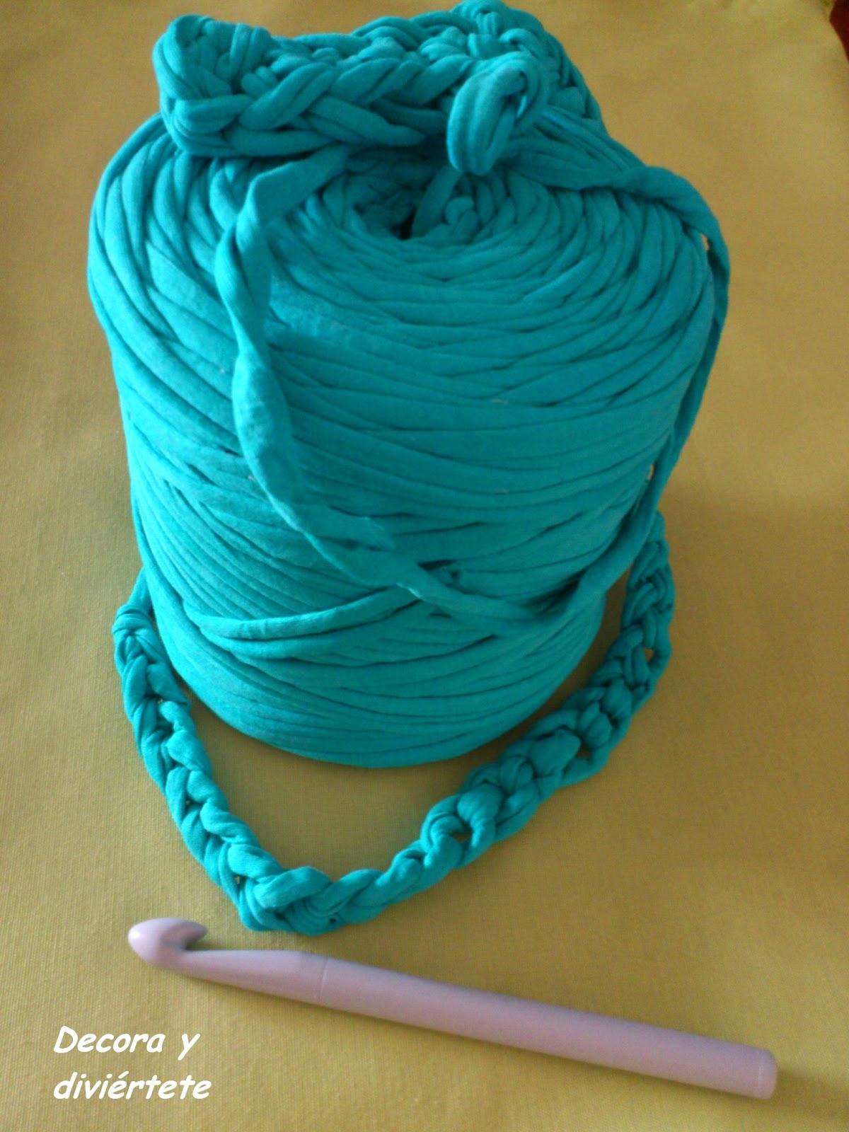 Os ense o como hacer una alfombra de trapillo decora y - Como hacer color turquesa ...