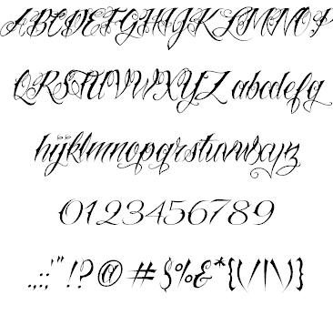 Cool Tattoo Fonts Script