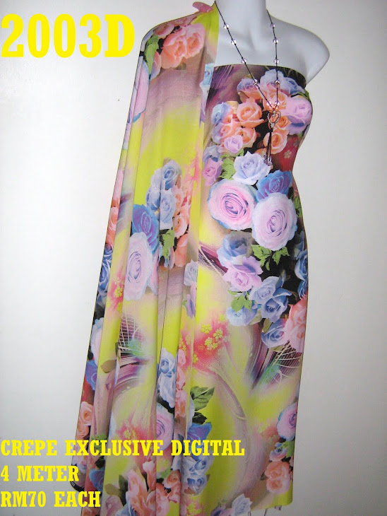 CP 2003D: CREPE EXCLUSIVE DIGITAL PRINTED, 4 METER