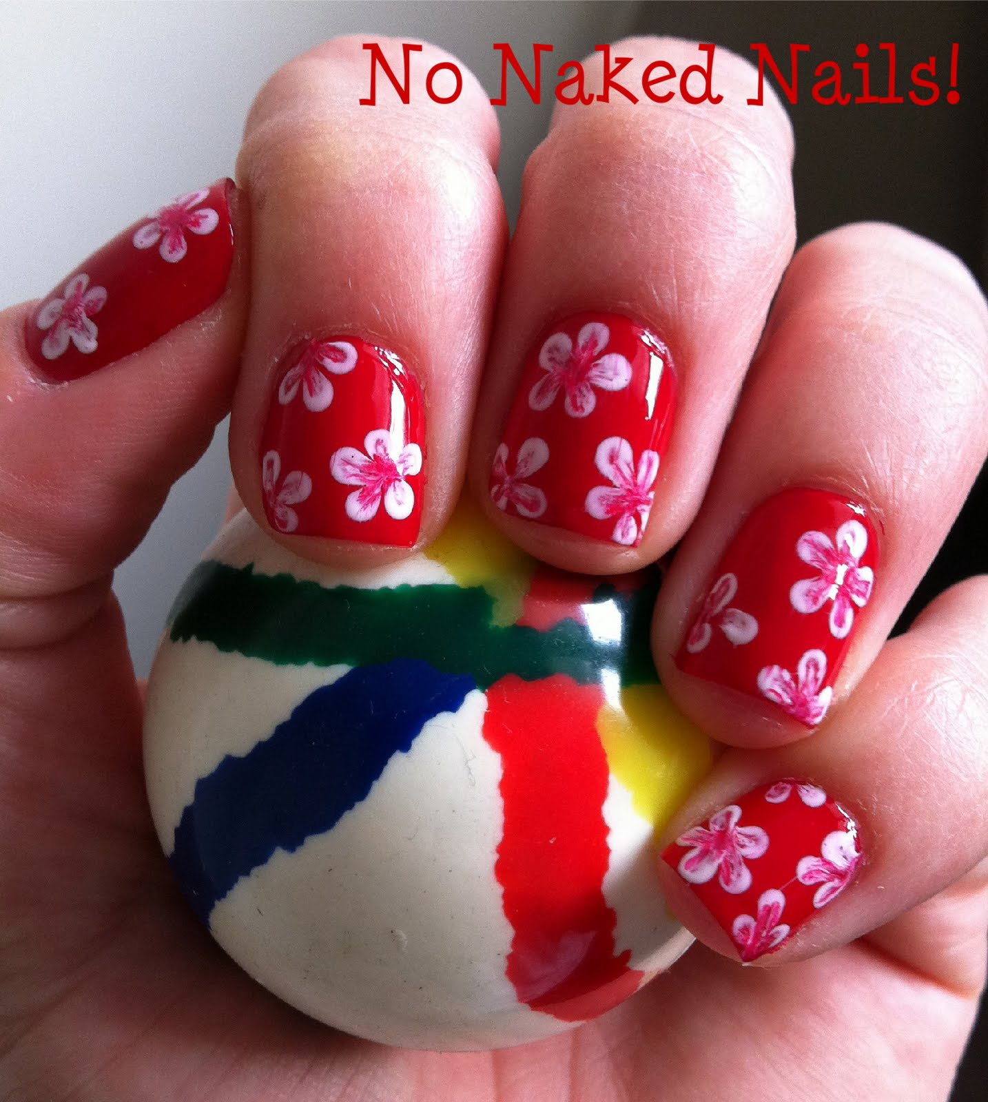 Hawaiian Flower Nails Design | Nail Art