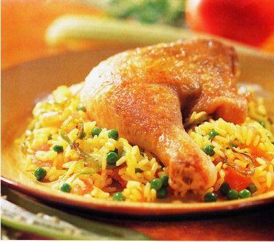 Ingredientes y preparación del arroz con pollo peruano