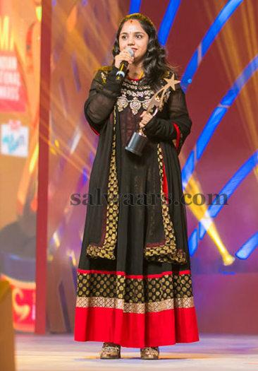 Singer Saindhavi Black Salwar Kameez