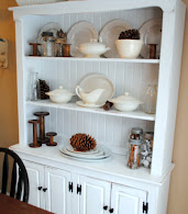 White Painted Pine Hutch