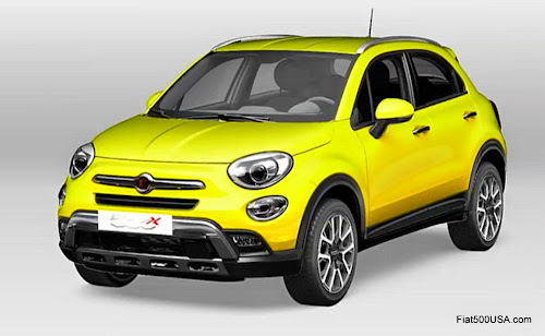 Fiat 500X in Yellow