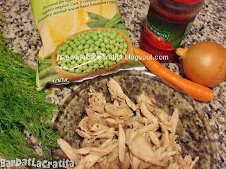 Mancare de mazare cu pui ingrediente reteta