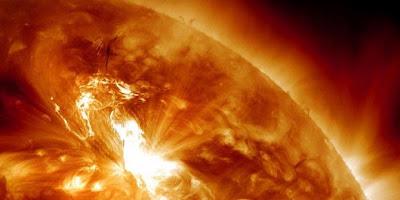 Radiasi Matahari akibat Badai Matahari 2012