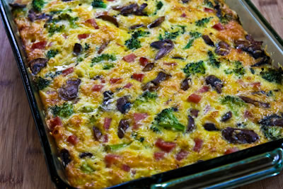 eggs with ham cheddar bake with ham eggs recipe ham cheddar and chive ...