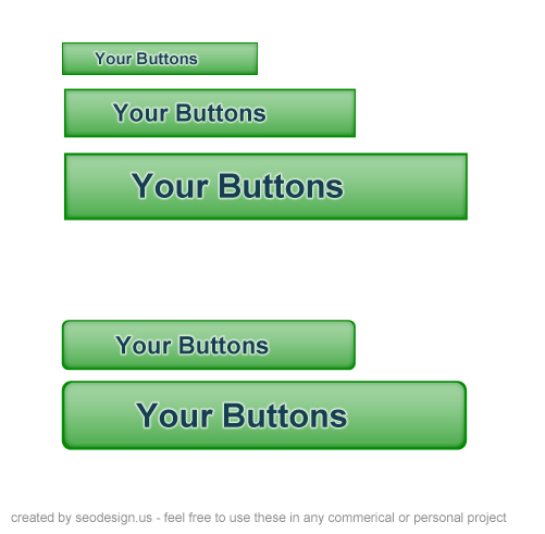 17 Free Colored Web Buttons PSD Download