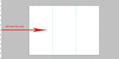 cara membuat brosur dengan photoshop, belajar photoshop, pemula, cs6, membagi lembar kerja, layer, ruler tool, line tool