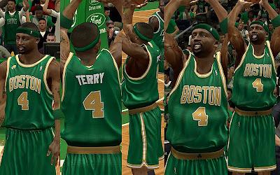 NBA 2K13 Boston Celtics St. Patrick's Jersey Mod