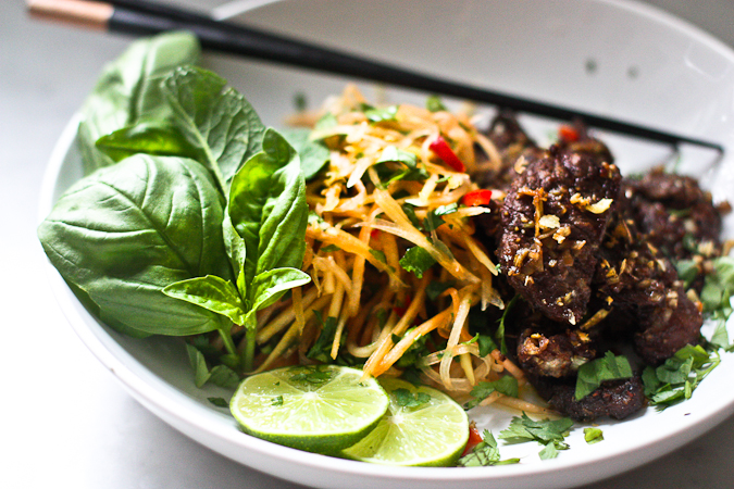 Vietnamese Beef Salad with Green Papaya