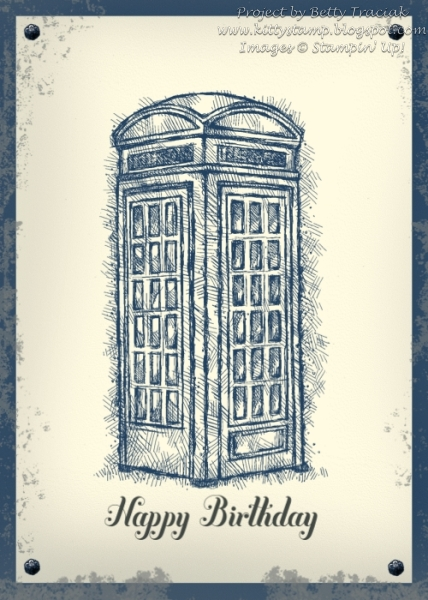 Kitty Stamp Dr Who Birthday Card