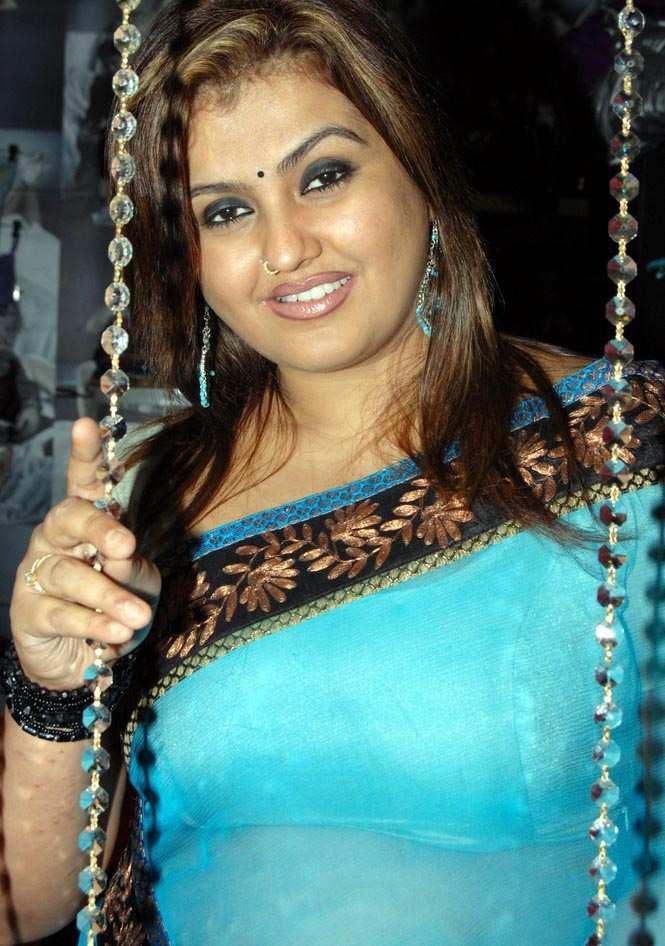 Tamil Hot Actress Sona In Blue Saree S