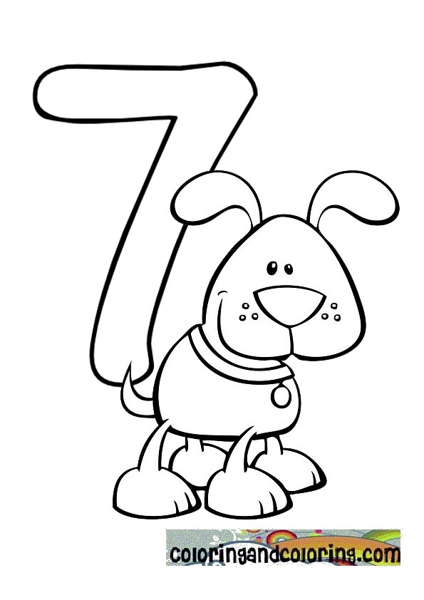 Number 7 Coloring Pages Numbers Colouring Page