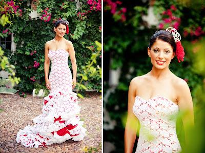 The wedding decorator a fabulous flamenco style wedding for Flamenco style wedding dress