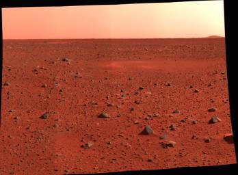 Matahari Terbenam di Planet Mars