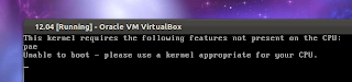 virtualbox kernel pae error