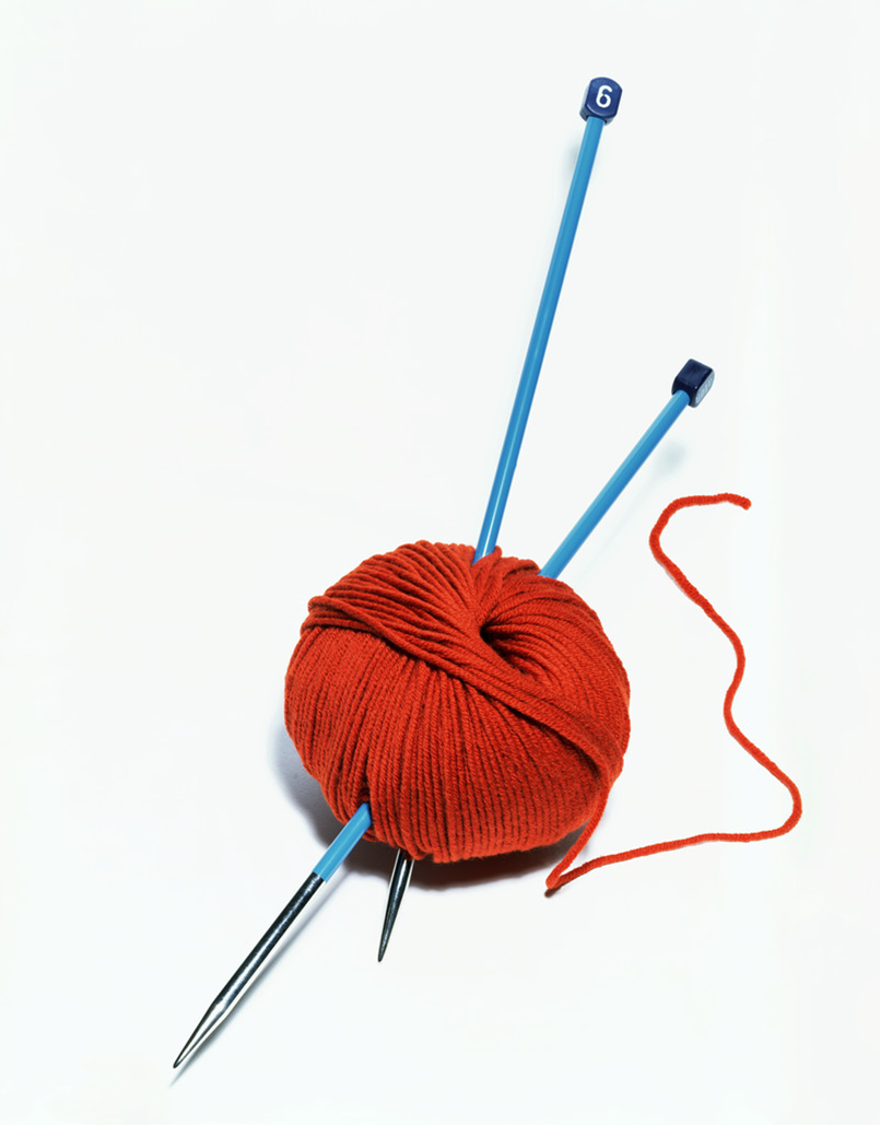 Knitting Wool And Needles : Pieces and