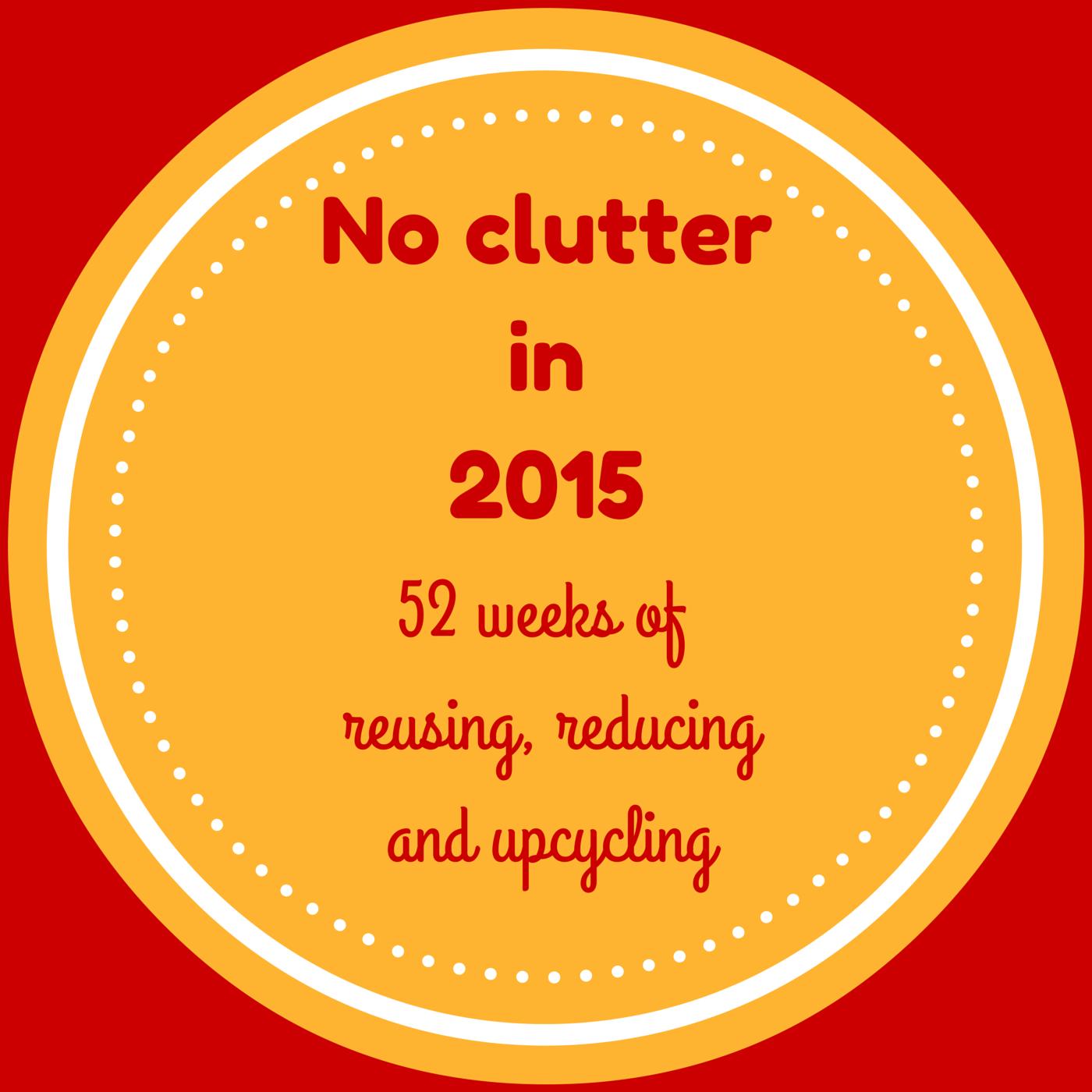 no clutter, decluttering