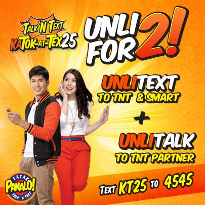 Talk N Text (TNT) Call and Text Promo List For 2013