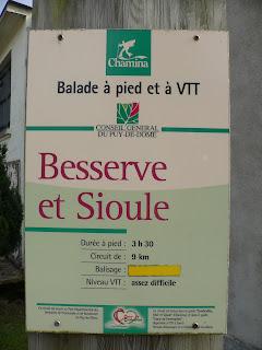 Wandelroute Auvergne - Besserve et Sioule - sauret-Besserve - Waterval les 3 cuves