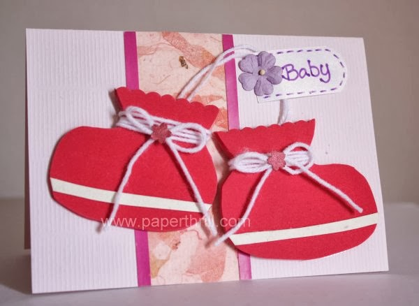 Babylicious baby booties newborn card