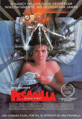 """Cartel de """"Pesadilla en Elm Street"""" (Wes Craven, 1984)"""