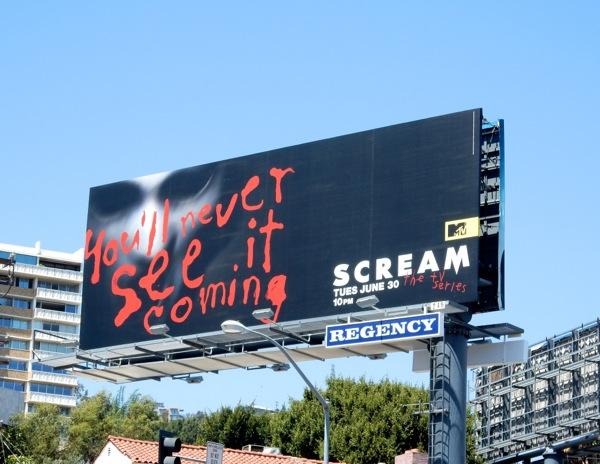 Scream TV remake billboard
