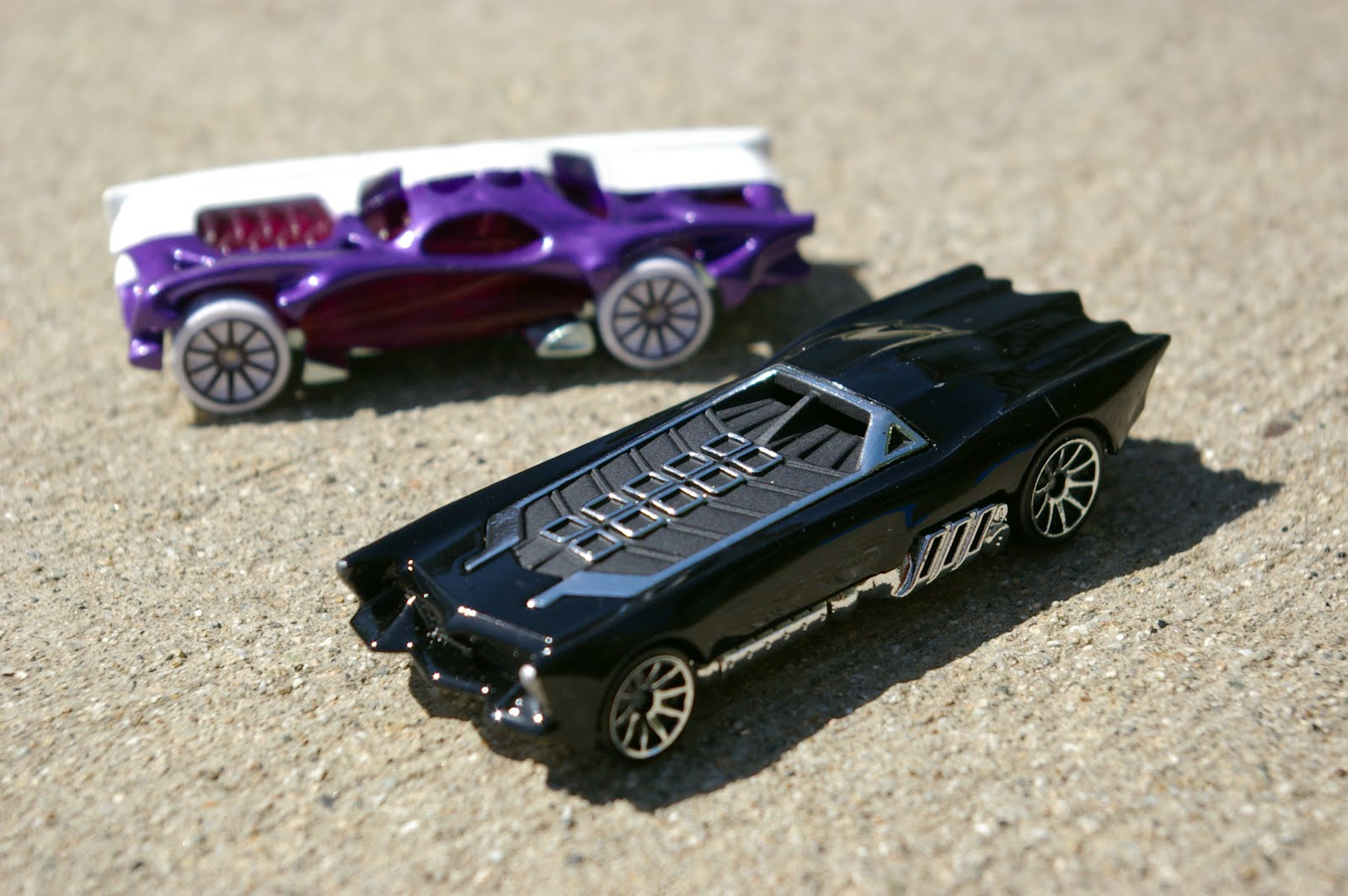 Hey! The Batman and Two-Face cars I designed last year are finally out ...