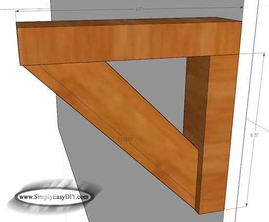 Attach The Brackets To Wall Preferably Studs Then Cut OSB Shelves Size Using A Miter Saw Glue And Tack Underside Reinforcement Board In