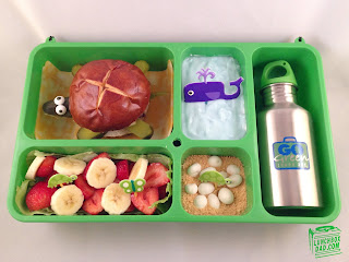 turtle kids bento lunch