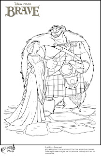 disney brave king fergus and queen elinor laughing together coloring pages