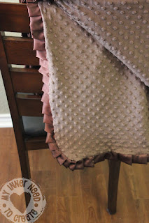 Pleated Ruffle Baby Blanket