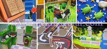 collage con modelos de maquetas por el fin del año escolar 2013