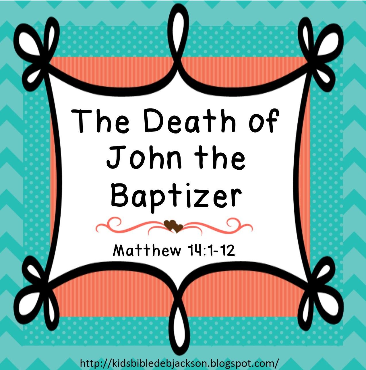 bible fun for kids cathy u0027s corner the death of john the baptist