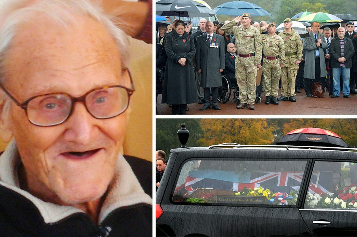 13 beautiful acts of kindness that left me teary-eyed - The-funeral-of-Harold-Percival